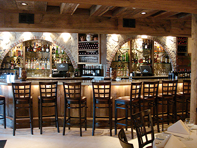 The bar at La Masseria Ristorante in Rhose Island